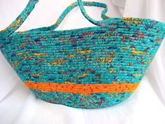 hand coiled fabric basket