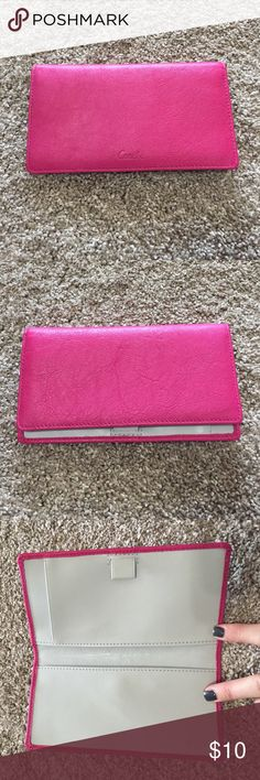 Coach checkbook wallet insert Pink Coach wallet insert for checkbook. Brand new, never used. Bought wallet and took out. Smoke free home. Coach Accessories