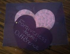 Forgiveness Heart With Arms Craft For Kids