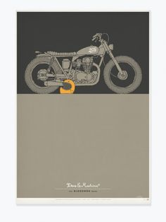 dues ex machina motorcycle poster