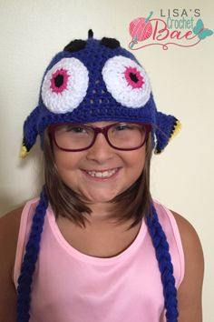 A personal favorite from my Etsy shop https://www.etsy.com/listing/472893723/dory-inspired-crochet-hat