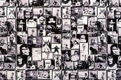 Wall paper design - Jef Geys - Lapin Rose Robe Bleu, started 1988 [close-up] by de_buurman, via Flickr