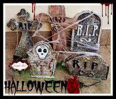 Cómo hacer una lápida para Halloween | Manualidades