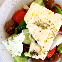 Greek Salad! Get the authentic recipe