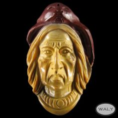 Carved American Indian Pendant Bead AD402016 | eBay