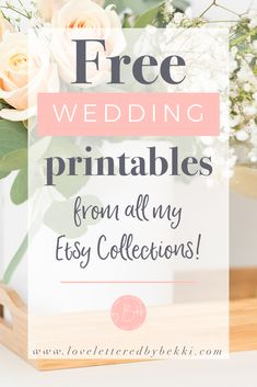 "Free Printables - Who doesn't love themselves some free printables? I'm so excited to share a whole page of free printables featuring every single one of my wedding collections. Move over test prints, ""Hello"" art prints. Free Printable Wedding Invitations, Diy Wedding Stationery, Cheap Wedding Invitations, Wedding Invitation Wording, Invitation Design, Free Wedding Templates, Event Invitations, Invitation Suite, Printable Cards"