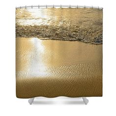 Golden Seashore by Kaye Menner Shower Curtain