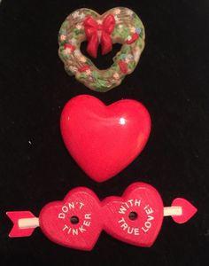 Vtg Bakelite Celluloid Lucite Plastic Valentine Sweet Heart Brooch Pin Lot Arrow #Unknown