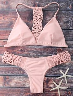 SHARE & Get it FREE   Knitting Strappy Bikini Set - PinkFor Fashion Lovers only:80,000+ Items • New Arrivals Daily Join Zaful: Get YOUR $50 NOW!