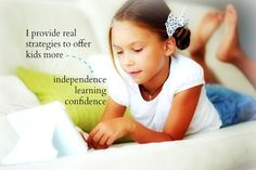 I provide real strategies to offer kids more...independence, learning and confidence!