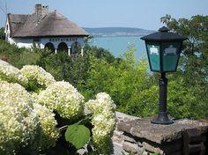 Tihany Peninsula Restaurants overlooking Lake Balaton. Hungary How Beautiful, Budapest, Countryside, Gazebo, Journey, Outdoor Structures, Explore, Vacation, Flowers