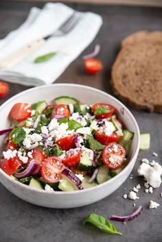 Veggie Dishes, Veggie Recipes, Salad Recipes, Healthy Recipes, Healty Lunches, Night Food, Comfort Food, Greek Recipes, Clean Recipes
