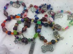 Many rescue charm bracelets to choose from.