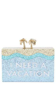 06cb5262cc8 kate spade new york 'i need a vacation' box clutch Kate Spade Clutch,