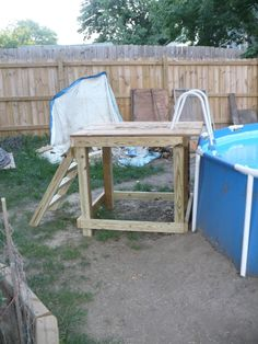 1000 images about pool on pinterest above ground pool above ground pool decks and above - Above ground pool steps wood ...