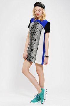 Shakuhachi Serpent Print Silk Tee Dress