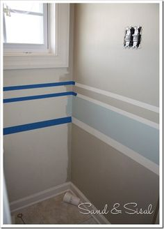 how to paint stripes - sand & sisal