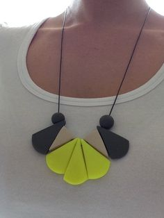 Polymer clay necklace  Mosaic by AllsKnotForgotten on Etsy, $35.00