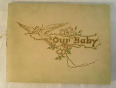 Antique c. 1904 Hand-written baby book by BuyfromGroovy on Etsy