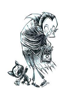 Inktober Dracula by RobbVision.deviantart.com on @deviantART