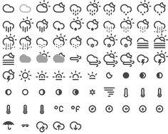 날씨 아이콘 Climacons by Adam Whitcroft