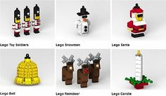 LEGO Christmas Ornaments-a Lego tree would be so cute!