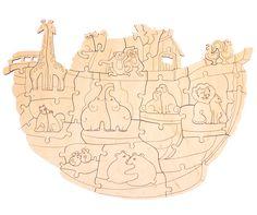 Деревянная пазл-расскраска Woody Ноев ковчег