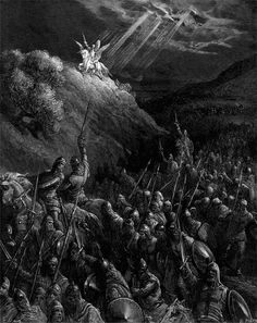 Apparition of Saint George on the Mount of Olive. llustration to The Crusades.
