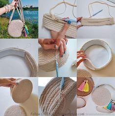 master class on knitting, bag with your hands .- мастер класс по вязанию, сумка своими рукам… master class on knitting, bag do it yourself, beach bag - Bag Patterns To Sew, Sewing Patterns, Crochet Patterns, Sewing Ideas, Crochet Handbags, Crochet Purses, Crochet Bags, Crochet Patron, Crochet Circles