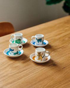 Arabia's Peppi cups were designed by Gunvor-Olin Grönqvist in the 1960s. Contemporary Design, Modern Design, Wall Desk, Chair Price, Fritz Hansen, Gold Price, Polished Brass