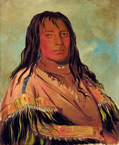 Chá-tee-wah-née-che, No Heart, Chief of the Wah-ne-watch-to-nee-nah Band by George Catlin
