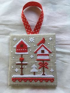 ♥embroidery designs →cross stitch pattern♥ by SoEasyPattern Xmas Cross Stitch, Cross Stitch Christmas Ornaments, Cross Stitch Needles, Cross Stitch Cards, Christmas Embroidery, Counted Cross Stitch Patterns, Cross Stitch Designs, Cross Stitching, Cross Stitch Embroidery