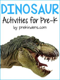 Pre-K & Preschool theme ideas for learning about dinosaurs Find more Dinosaur Activities for Pre-K Books Dinosaur Herd {Large Motor} Brontosauruses and triceratops traveled in herds. Children are put into two groups: brontosaurus and triceratops. Dinosaur Books For Kids, Dinosaurs Preschool, Dinosaur Crafts, Preschool Science, Dinosaur Party, Science Area, Dinosaur Dinosaur, Dinosaur Bones, Dinosaur Birthday