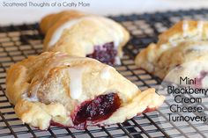 Scattered Thoughts of a Crafty Mom: Blackberry and Cream Cheese Mini Turnovers with NECTRESSE™