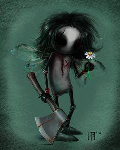 The Deviant Artist Carhven has her own unique style and we love it. It's dark and creepy in a sweet way. Dark Art Illustrations, Dark Art Drawings, Illustration Art, Emo Art, Goth Art, Arte Horror, Horror Art, Dark Side, Dark And Twisted