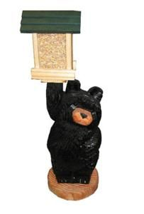 Solar Light Carved Black Bear