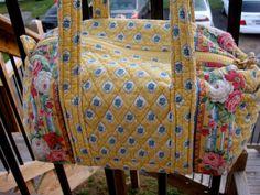 Retired Elizabeth VERA BRADLY BAG Vintage Purse Yellow by 80sman, $30.00
