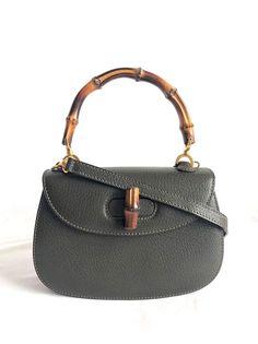 89b8263dbfc Gucci vintage small bamboo top handle 2 ways bag