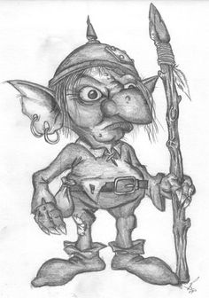 a goblin, a quick sketch when i was in the mood for drawing fantasy creatures. Fairy Drawings, Fantasy Drawings, Fantasy Artwork, Art And Illustration, Illustrations, Magical Creatures, Fantasy Creatures, Fantasy Kunst, Fairy Art