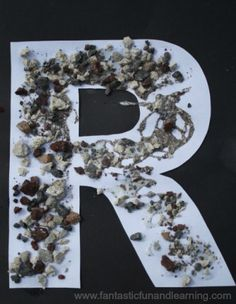 Letter R Craft...R is for Rocks!