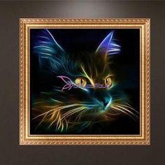 Cartoon Cute Cat 5D Diamond DIY Painting Craft Home Decor #Cu3