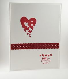 Love You Just The Way You Are Valentine's Day Handmade Card | cardsbylibe - Cards on ArtFire