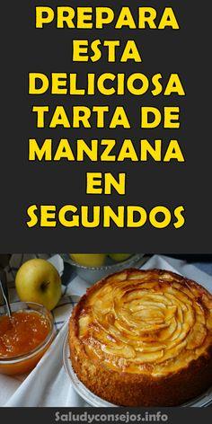 PREPARA ESTA DELICIOSA TARTA DE MANZANA EN SEGUNDOS #tarta #consejos #manzana #deliciosa #tips