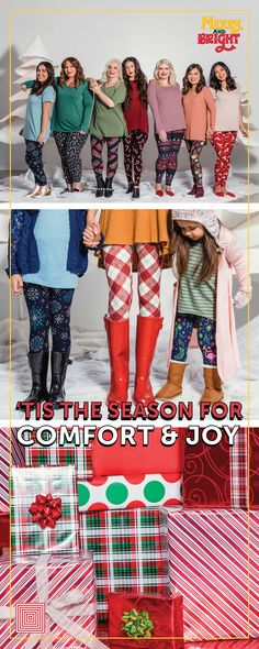 f6dfcbde5d1d0 Merry and Bright is a Leggings exclusive LuLaRoe Collection with prints  that'll make you