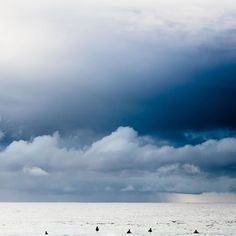 'The Waiting Game' by Chris Grundy (@chrisgrundyphoto) Such beautiful moody blues   #Blue #WaitingGame #Surf #SurfOrDie #SurfArt #Surfing