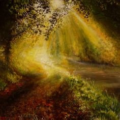 """SOLD: """"River Song"""" acrylic on canvas, 76 cm x 76 cm by Cathy Yarwood-Mahy Waterfall, Country Roads, Paintings, River, Songs, Canvas, Artwork, Outdoor, Tela"""