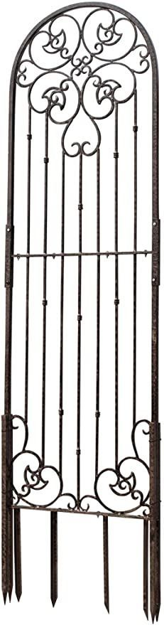 H Potter 8 Foot Tall Garden Trellis Wrought Iron Heavy Scroll Metal Decoration Lawn Patio and Wall Decor Screen for Rose Clematis Ivy Weather Resistant Patio Deck Wall Art X Large Clematis Trellis, Garden Trellis, Diy Projects For Beginners, Real Plants, Wall Decor, Wall Art, Backyard, Patio, Decoration