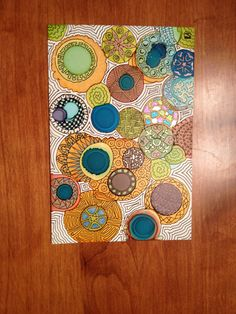 These are Zentangle designs done on Yupo paper using alcohol inks