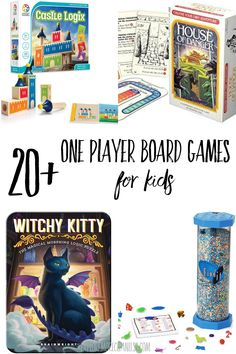 20+ fun one player board games for kids - a curated list of board games that kids can play alone. These are great, screen-free activities so kids can entertain themselves! #boardgames #gameschooling - Explore More Clean Less Best Family Board Games, Board Games For Couples, Couple Games, Family Games, Free Board Games, Printable Board Games, Games To Play With Kids, Uno Cards, Cool Gifts For Kids