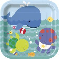 Under the Sea Pals 9 Inch Square Lunch/Dinner Plates (8 ct)